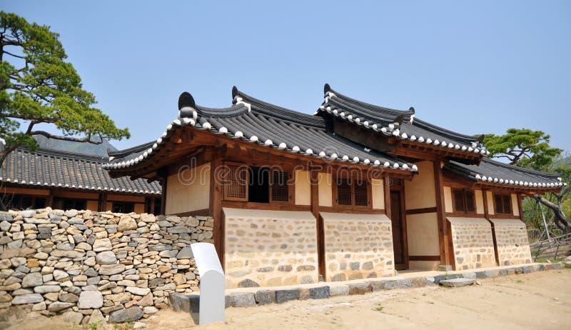 历史的村庄寺庙 库存图片