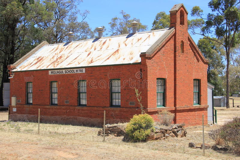 历史的校舍-维多利亚,澳大利亚 库存照片