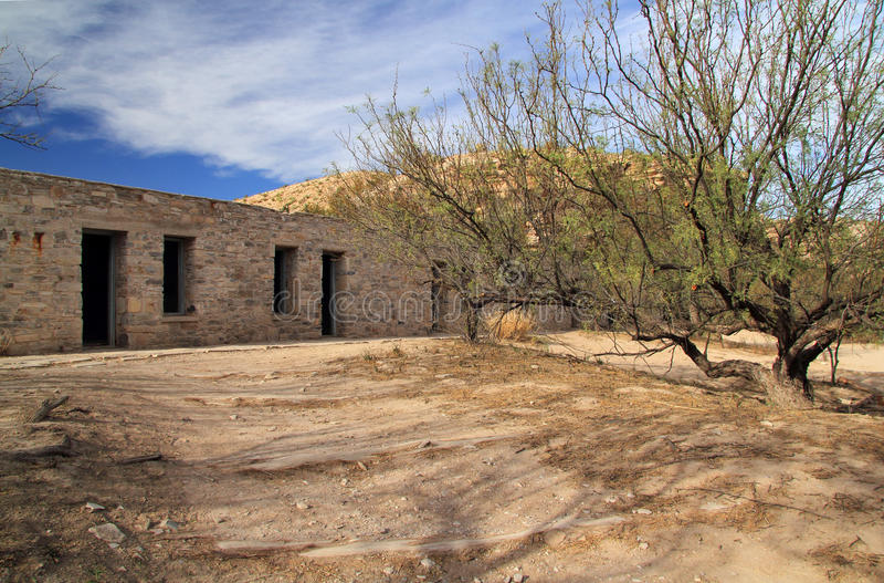 历史的汽车旅馆废墟 库存图片