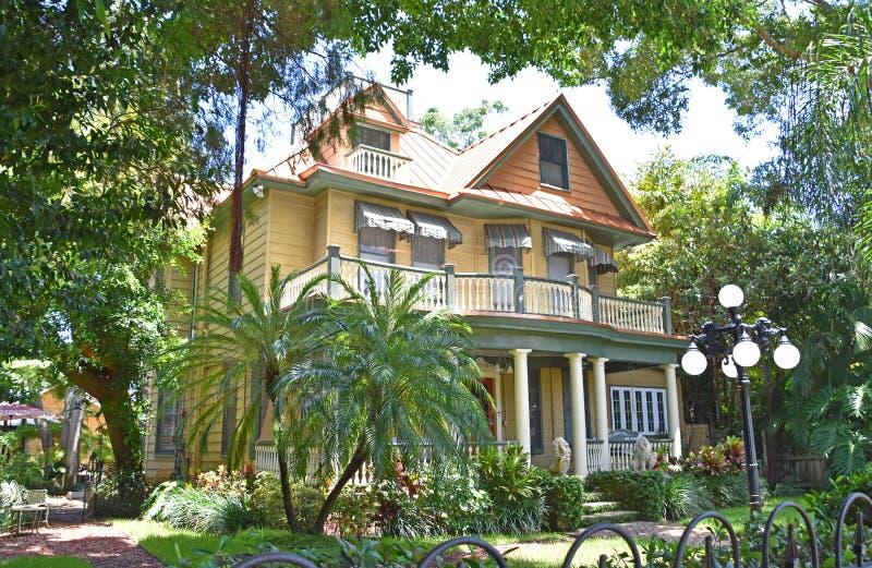历史的环境美化的豪宅坦帕佛罗里达 库存照片