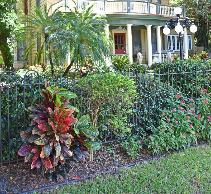 历史的环境美化的豪宅坦帕佛罗里达 库存图片