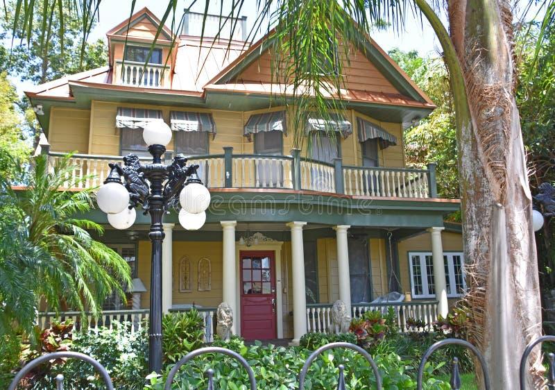 历史的环境美化的豪宅坦帕佛罗里达 免版税库存图片
