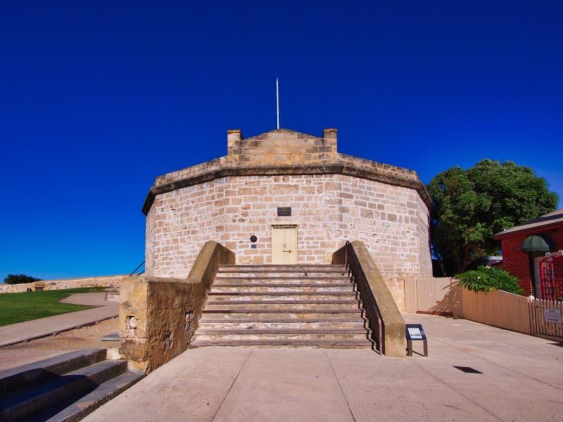 历史的石圆的塔,费利曼图市,澳大利亚西部 库存图片