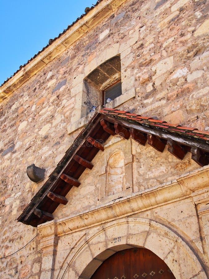 历史的石教会,塞戈维亚,西班牙细节  图库摄影