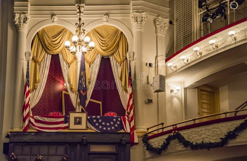 历史的福特` s剧院,林肯总统` s刺杀站点  库存照片