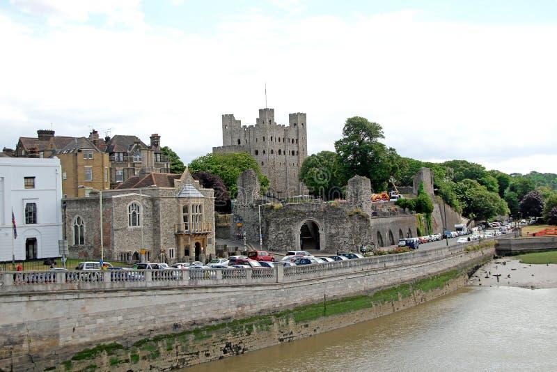 历史的罗切斯特城堡 免版税图库摄影