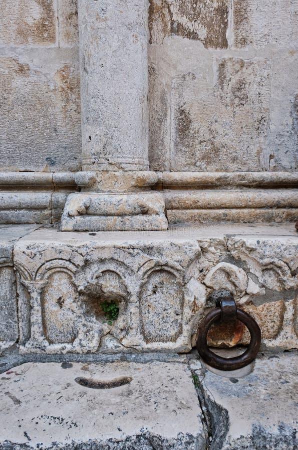 历史的罗马石制品,克罗地亚细节  库存图片