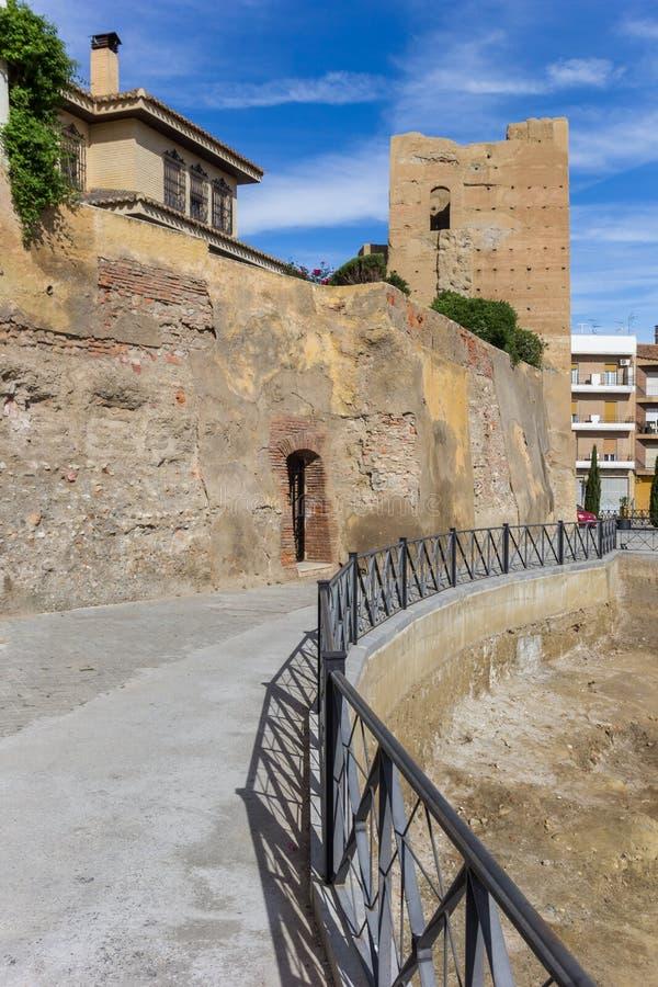历史的耶老岛的塔在瓜迪克斯的中心 免版税库存图片