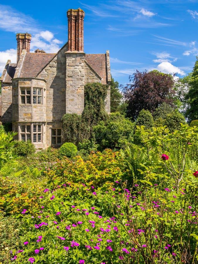 历史的英国乡间别墅 库存图片