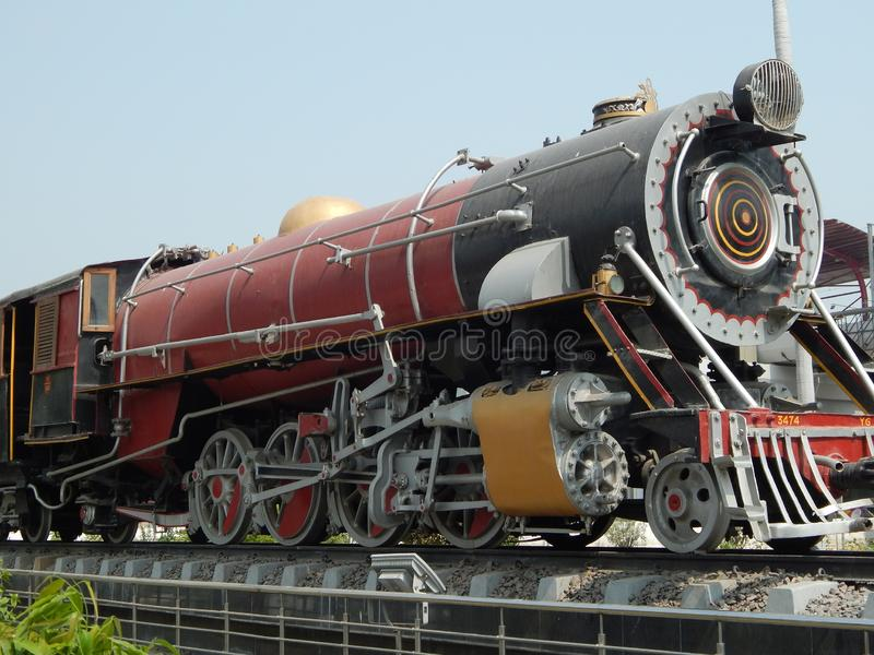 历史的英国活动蒸汽引擎 免版税图库摄影