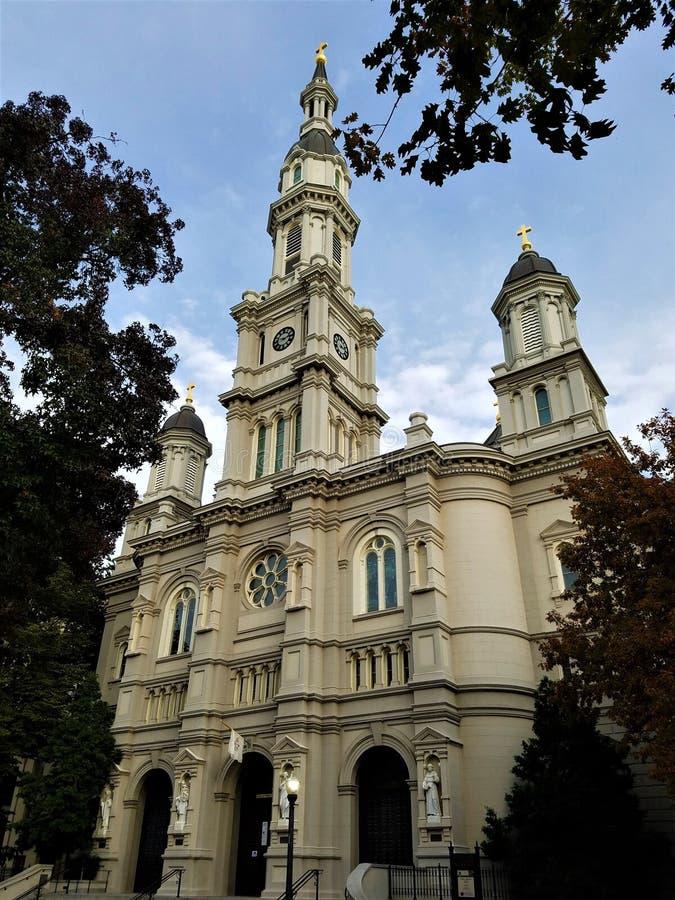 历史的萨加门多大教堂 库存图片