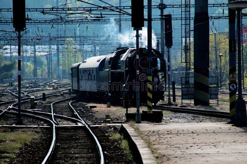 历史的蒸汽火车 库存照片