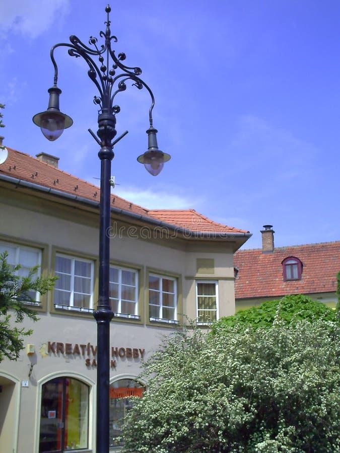 历史的街道在埃格尔,匈牙利 免版税图库摄影