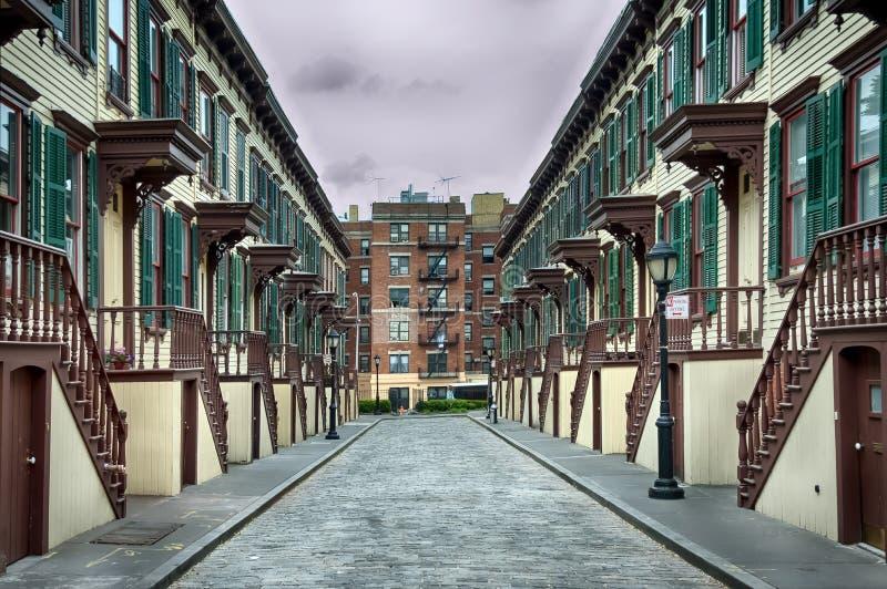 历史的街道在纽约 免版税库存照片
