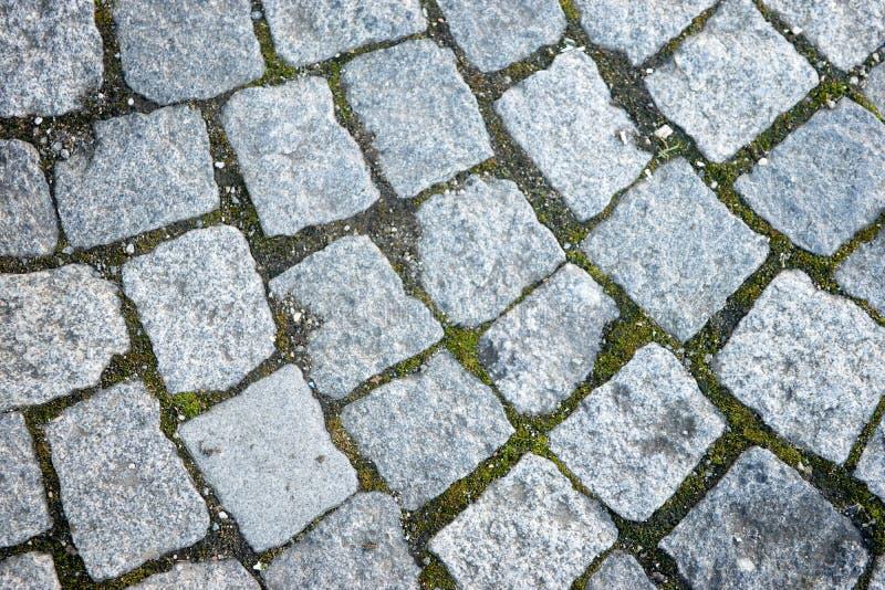历史的被修补的石道路 免版税图库摄影