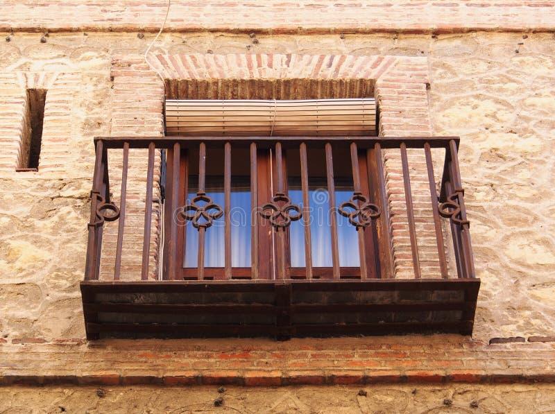 历史的议院的,塞戈维亚,西班牙小阳台 免版税库存照片