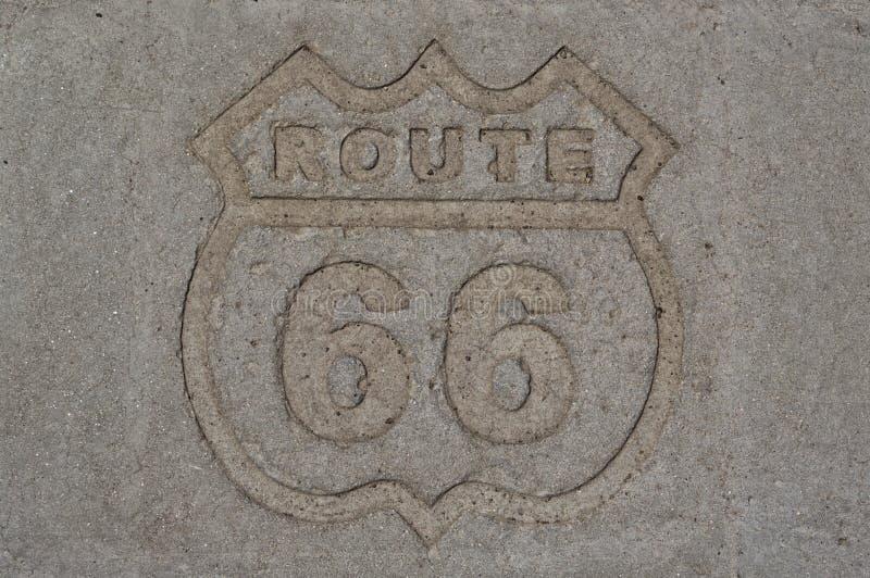 历史的路线66标志 免版税图库摄影