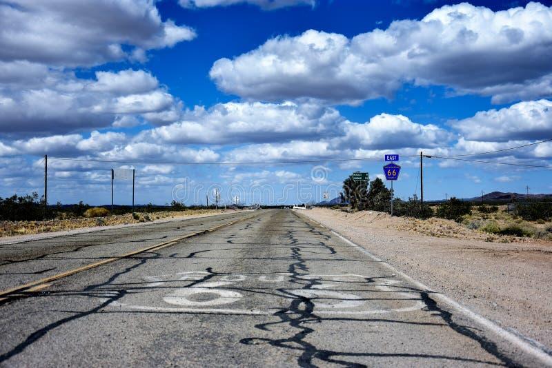 历史的路线66高速公路在内华达 免版税图库摄影