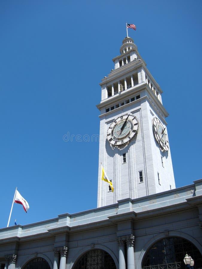 历史的轮渡大厦在旧金山,加利福尼亚 免版税库存图片