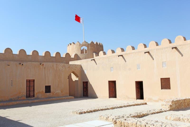 历史的里法堡垒在巴林 库存照片