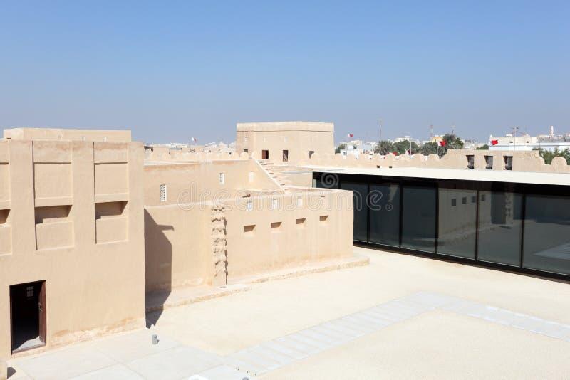 历史的里法堡垒在巴林 免版税图库摄影