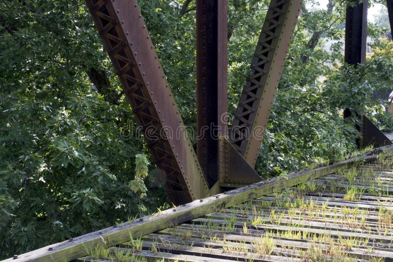 历史的铁路桥梁玛丽埃塔俄亥俄 库存图片