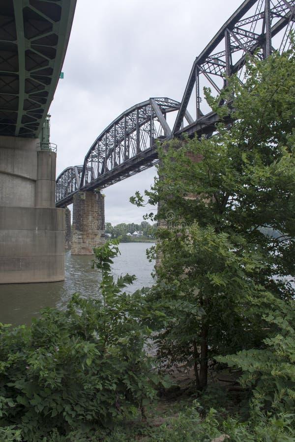 历史的铁路桥梁 免版税库存图片