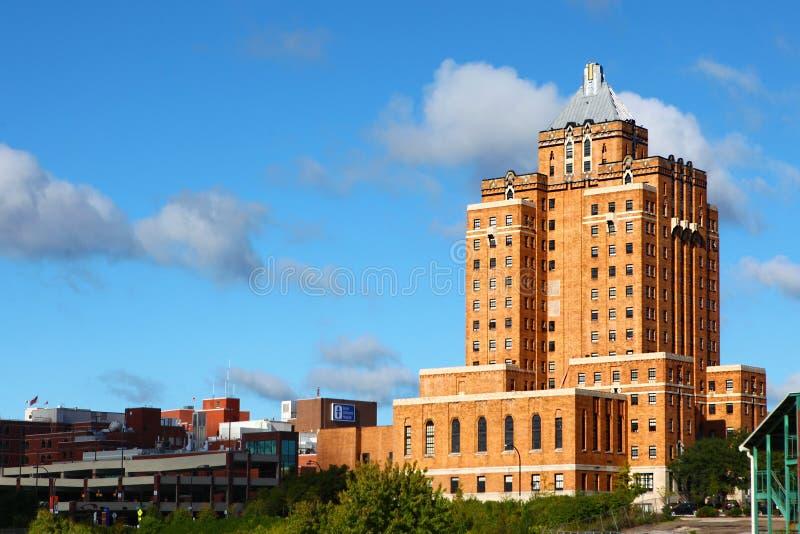 历史的阿克伦基督教青年会大厦在阿克伦,俄亥俄 库存图片