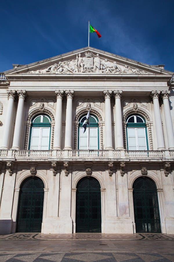历史的香港大会堂大厦在里斯本 图库摄影