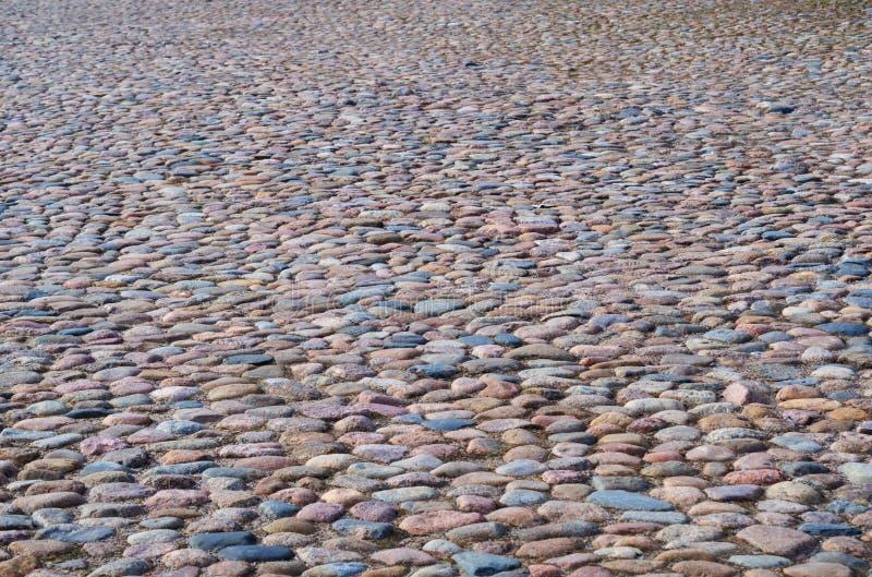 历史的鹅卵石pavemen 库存照片