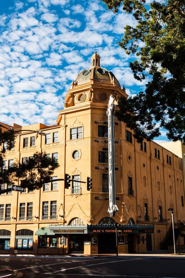 历史的巴波亚剧院在圣地亚哥,加利福尼亚 库存照片