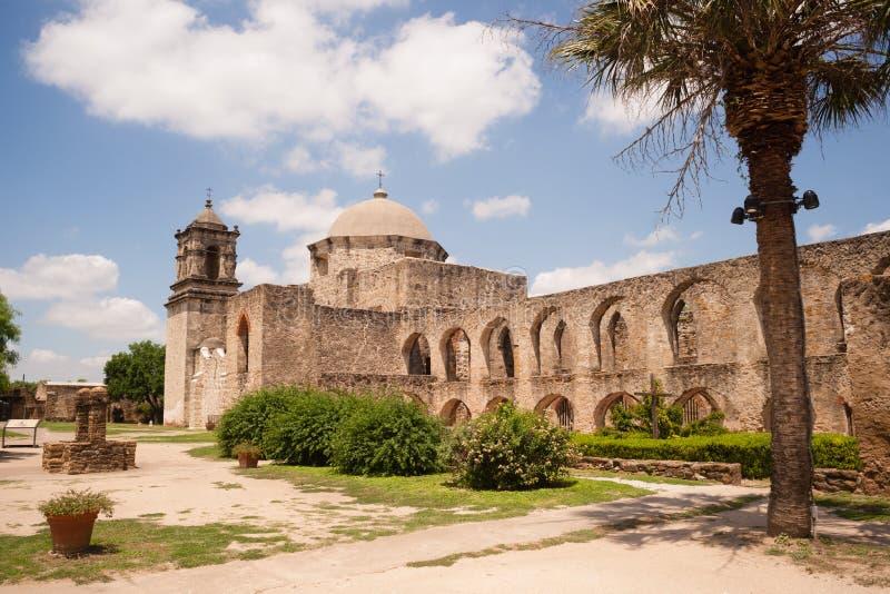 历史的建筑学使命圣何塞圣安东尼奥得克萨斯 图库摄影