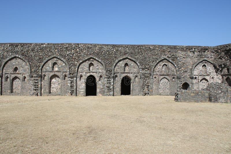 历史的建筑学, chishti khans宫殿, mandu,中央邦,印度 免版税图库摄影