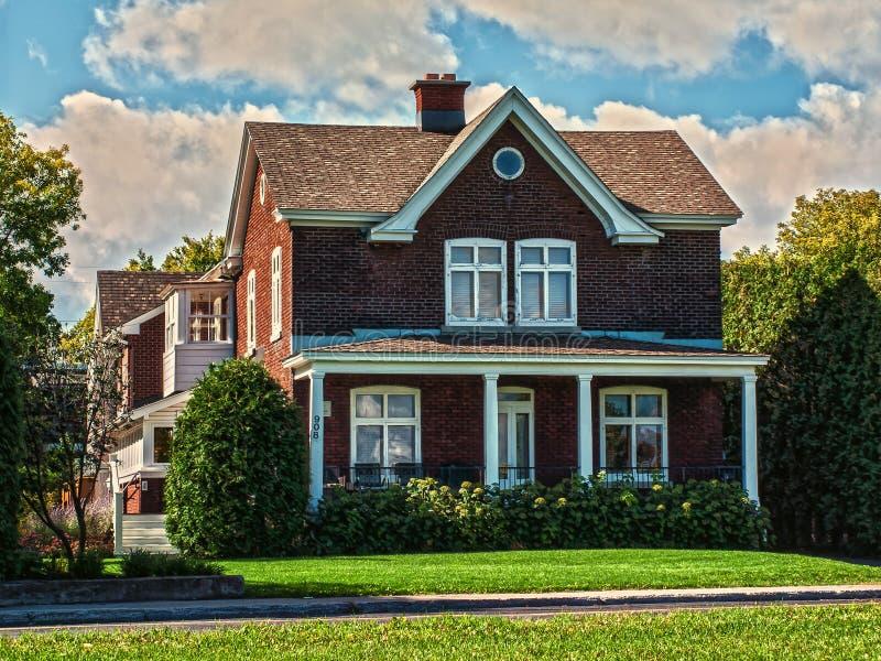 历史的brlck房子 库存图片