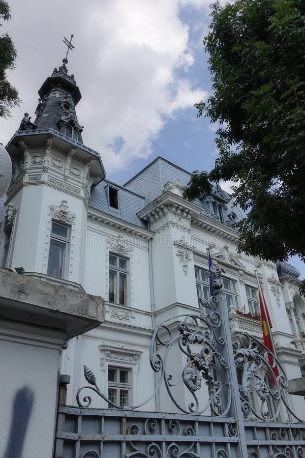 历史的Bulding在越南的布加勒斯特,实际上使馆 库存照片