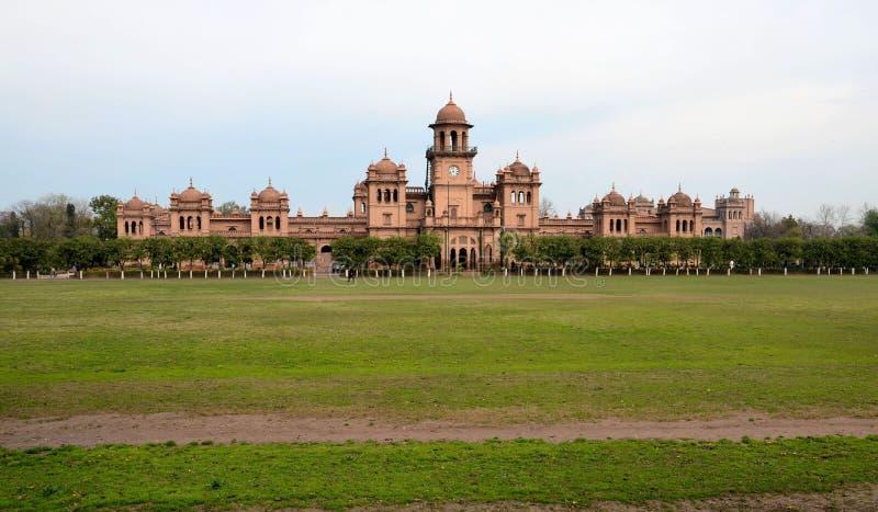 历史的Islamia学院大学主楼白沙瓦巴基斯坦 库存图片