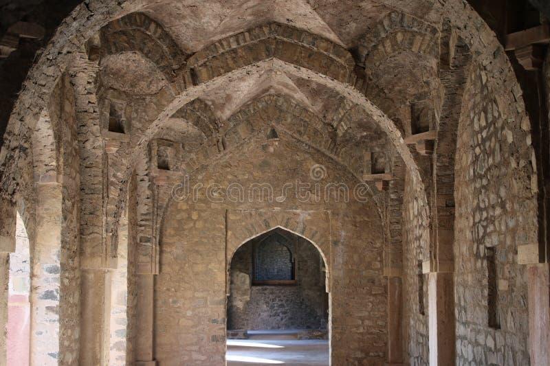 历史的islamik建筑学, darya khans坟茔, mandu,中央邦,印度 免版税库存图片