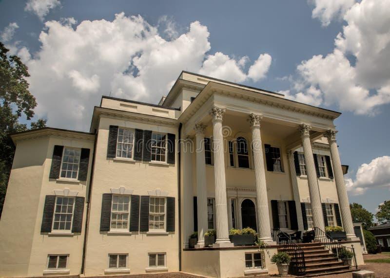 历史的Oatlands豪宅在利斯堡,弗吉尼亚 库存图片