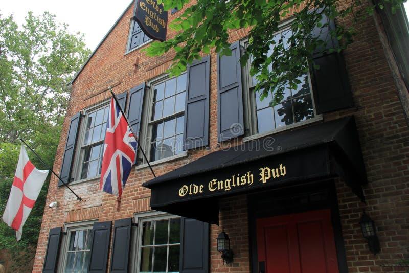历史的Olde英国客栈, Quackenbush广场,阿尔巴尼, NY正门, 2016年 库存图片