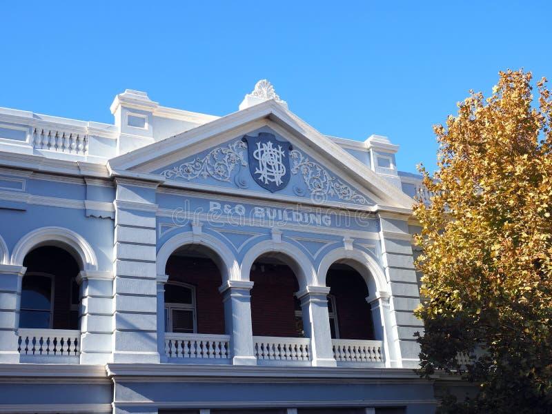 历史的P&O大厦,费利曼图市,澳大利亚西部 库存照片