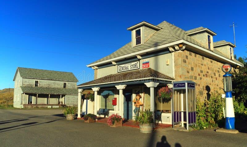 历史的Quilchena加油站和百货商店,尼古拉谷,不列颠哥伦比亚省 库存照片