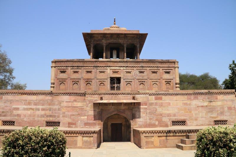 历史纪念碑在Allahabad,印度 免版税库存照片