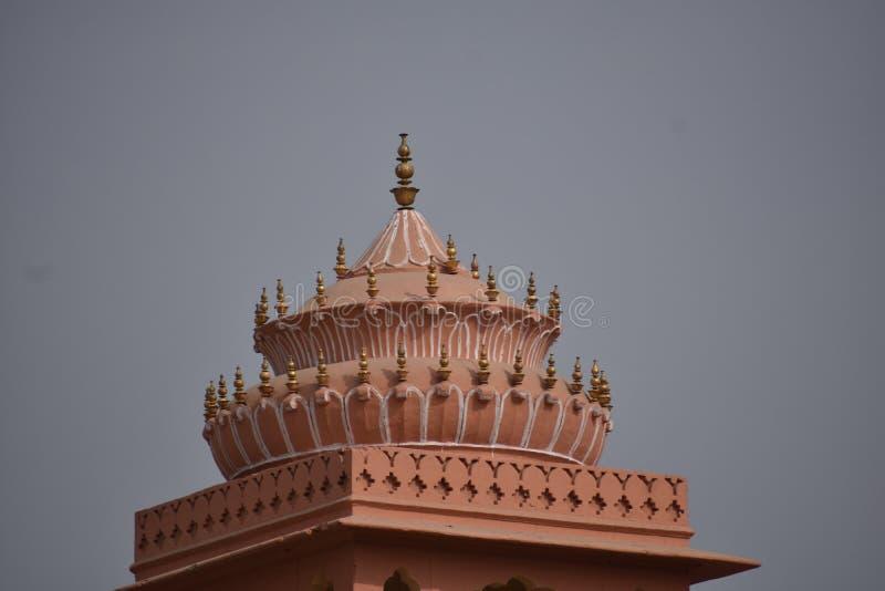 历史纪念碑hawa mahal在斋浦尔拉贾斯坦印度 免版税库存图片
