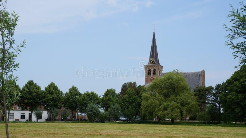 历史荷兰村庄叫` t Woudt, Midden-Delfland自治市 免版税图库摄影