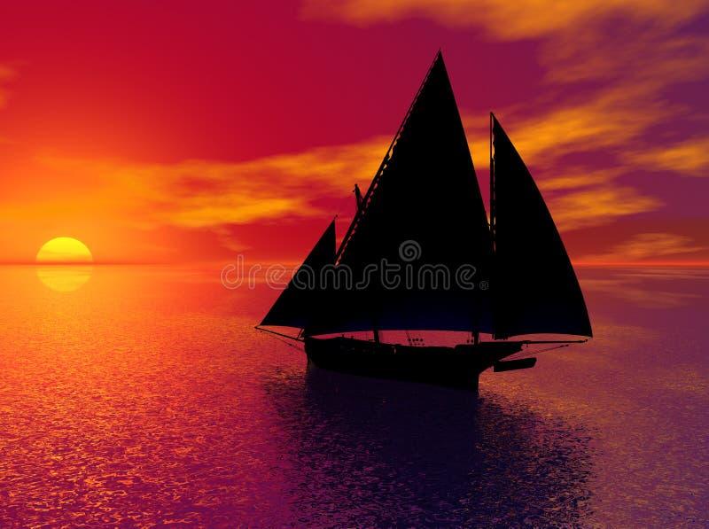历史记录风帆 向量例证