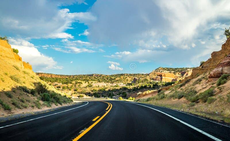 历史路线66 路向新墨西哥 免版税库存图片