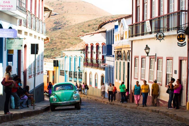 历史镇在巴西 库存图片