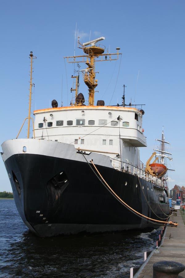 历史破冰船船 免版税库存照片