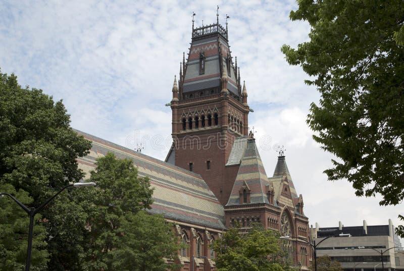 历史建筑在哈佛大学剑桥 图库摄影