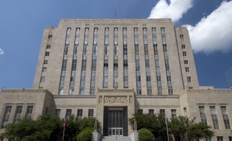 历史建筑在城市俄克拉何马 免版税库存照片